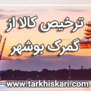 ترخیص کالا از گمرک بوشهر